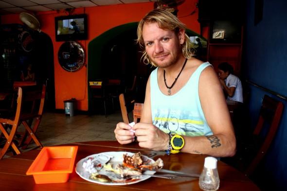 Ginski eating