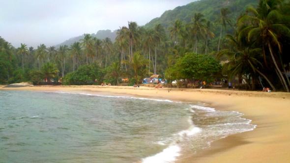 Our beach:camp view