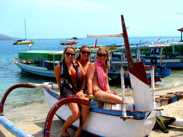 snorkel on a boat shot