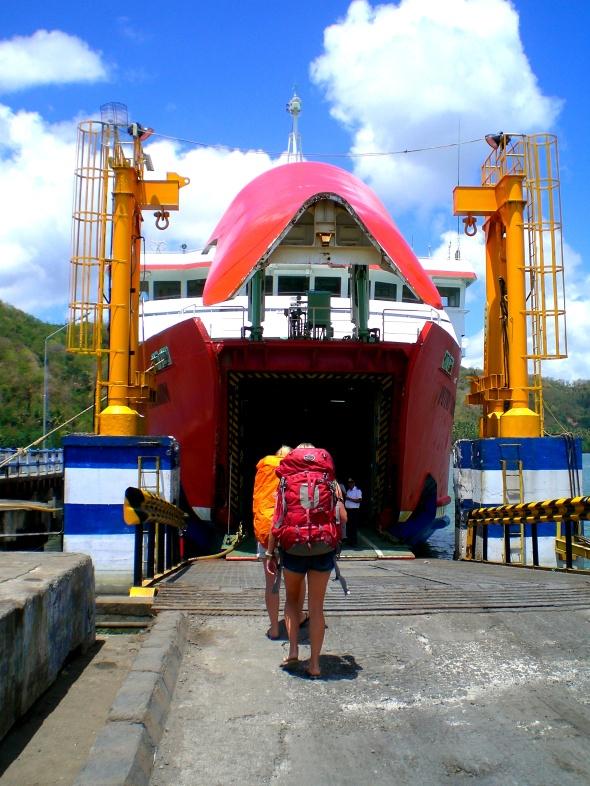 Walking onto Ferry