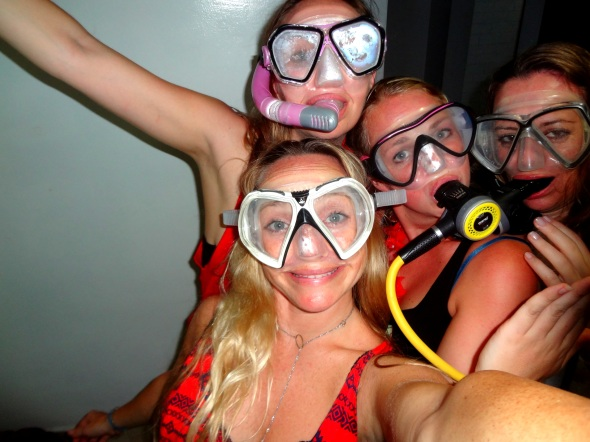 4 snorkel and reg in room