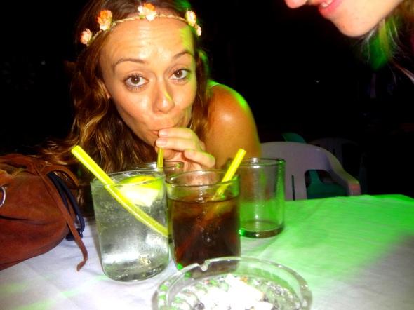 Elissa Drinking