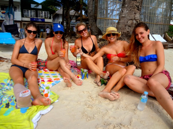 Girls on Beach
