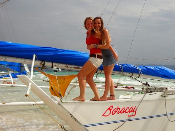 marj tash on boat