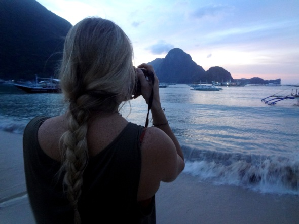 me shooting sunset