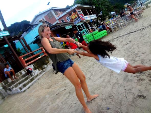 me swinging girl