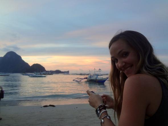 tash at sunset