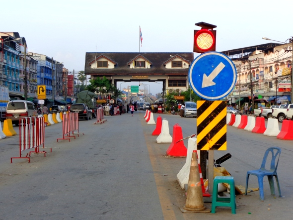 Border from thai side